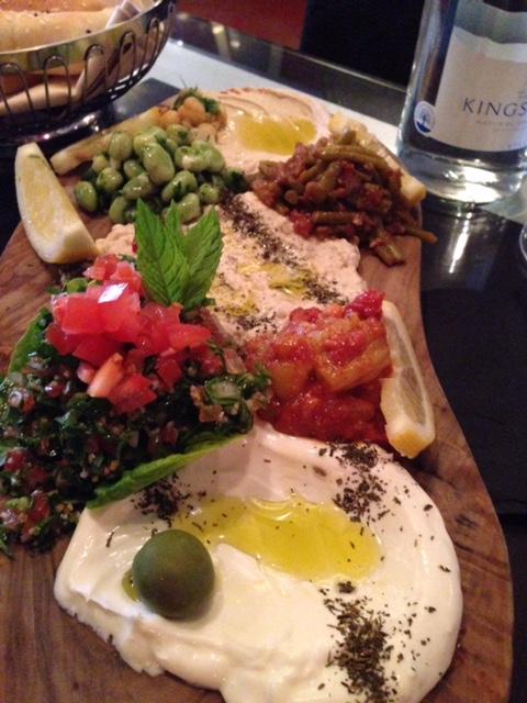 mezze platter at Mamounia Knightsbridge London