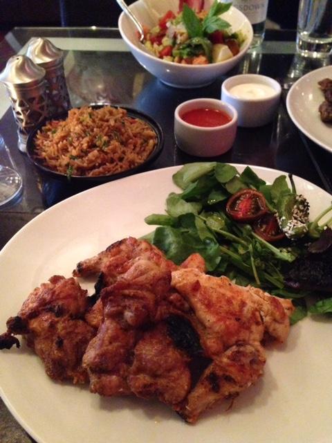 grilled chicken at Mamounia, Knightsbridge London