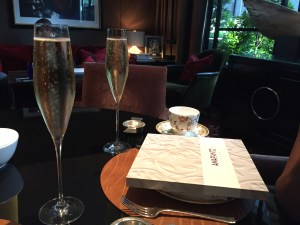 Tea (and champagne) for 2 at The Four Seasons Hotel Mayfair London Afternoon tea