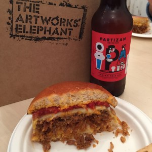 the Iberico burger and beer