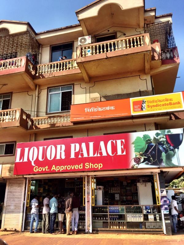 liquor shop in Goa, India