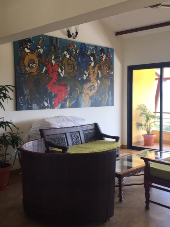 the interior of the Vallone Vineyards resort, winery, Nashik Valley, Maharashtra, India, Indian Wine