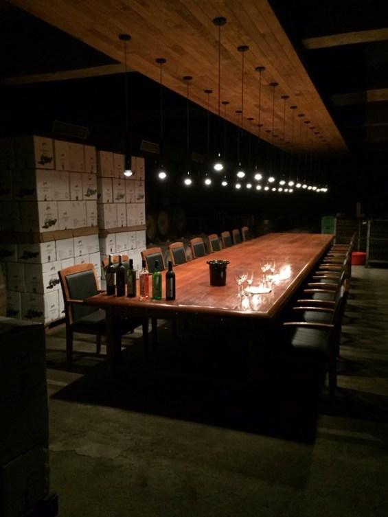 the tasting room at Grover Zampa winery, Nashik Valley, Maharashtra, India, Indian wine