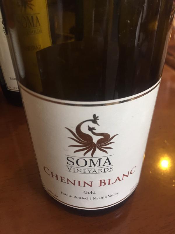 Gold Chenin Blanc, Soma Vineyards and Resort, Nashik Valley, Maharashtra, India