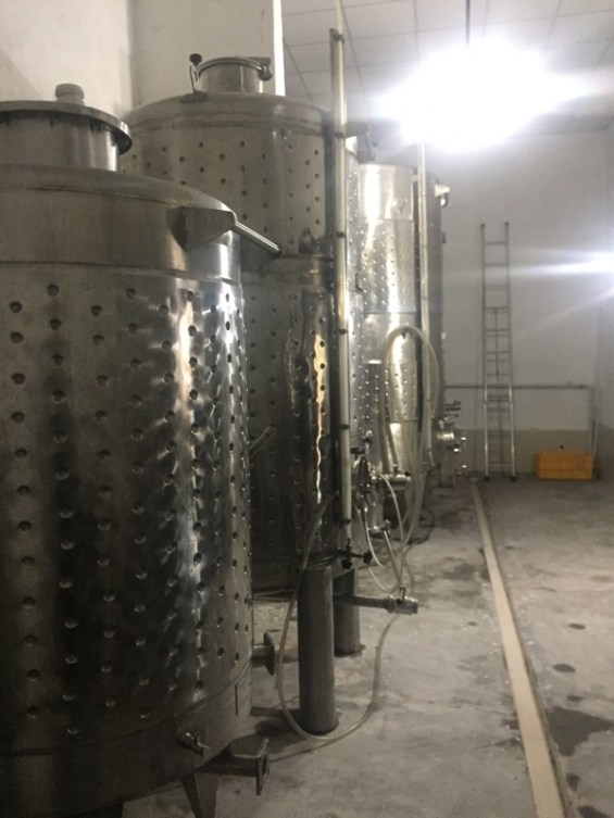 stainless steel tanks, Nipha Winery, Nashik Valley, India, Indian wine, Maharashtra