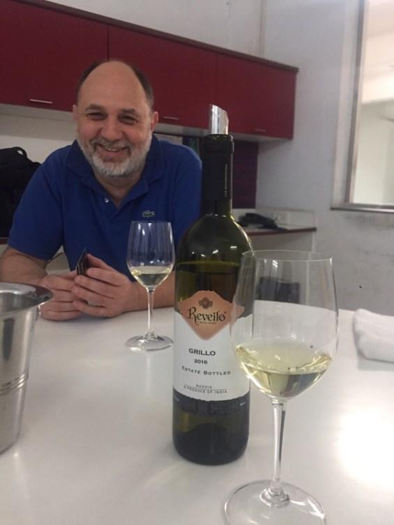 Reveilo winery winemaker, Andrea Valentinuzzi, Nashik Valley, Maharashtra, India, Indian WIne