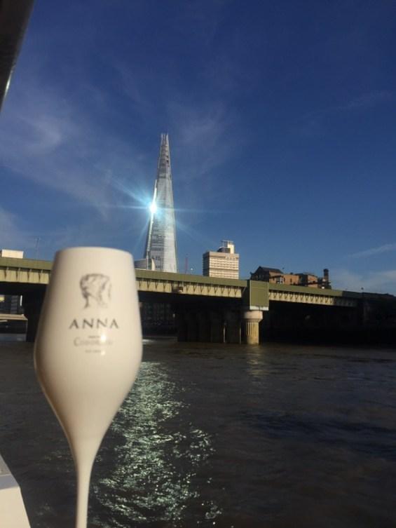 The Shard and Anna de Codorniu Cava on the River Thames, London