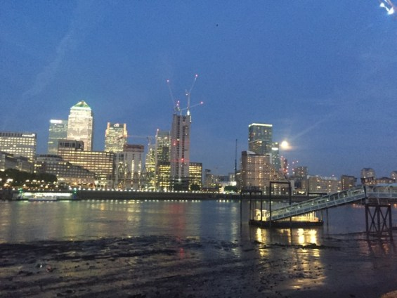 Canary Wharf on the River Thames, London