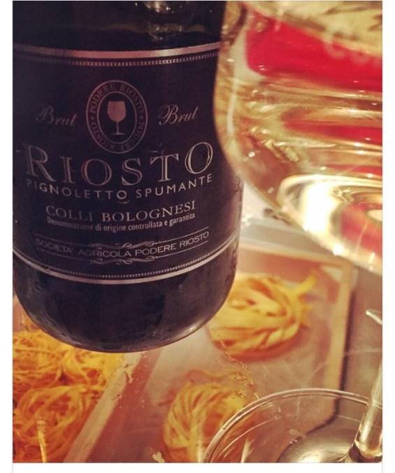 Pignoletto Spumante, Italian wine, sparkling wine with the  Consorzio Vini Colli Bolognesi at Burro E Salvia, East London