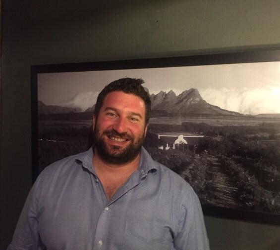 Danie Steytler, Jnr, a fourth generation wine maker at Kaapzicht, South Africa wine at Vivat Bacchus, London