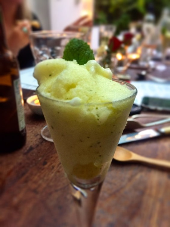 Sorbet with Santa Maria green jalapenos, Latin American Kitchen, London