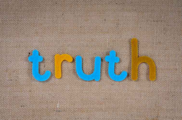 cutouts of letters truth - ADHD and mental illness truths