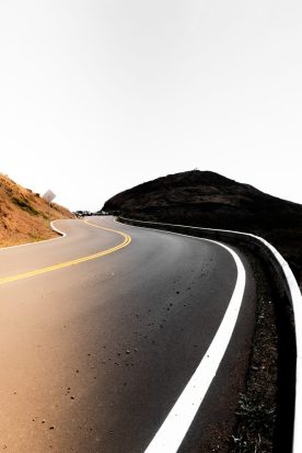 zig zag road on the road to mental health recovery