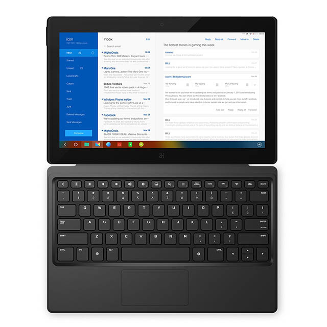3. Remix Ultra-Tablet 11.6 Inch Remix OS(Android 5.0) Tablet PC.(WiFi, GPS, Quad Core, RAM, 2GB +ROM With Keyboard(Red)