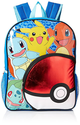3. Boys' Pokeball Pocket Backpack