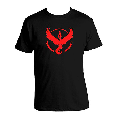 6. Pokemon Go Team Valor Pokeball T-shirt