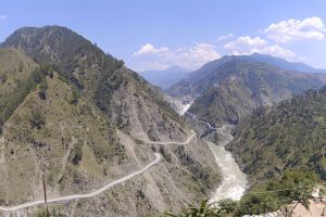 A panoramic view of the Baglihar Dam across the Chenab in Jammu and Kashmir. Credit: Wikimedia Commons
