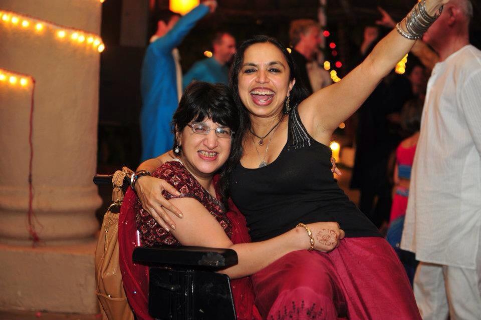 Shonali Bose with her cousin Malini Chib
