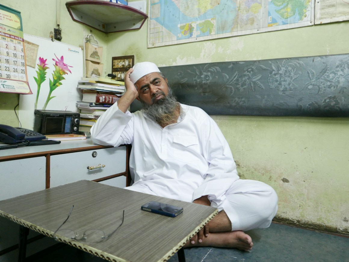 Mufti Abdul Qayyum, a relief-camp worker, was charged by Gujarat police with conspiring in a terrorist attack. Credit: Raghu Karnad
