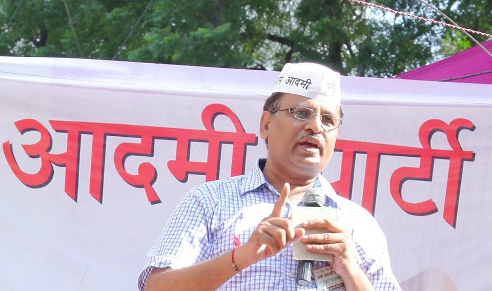 Delhi's Health Minister Satyendra Jain. Credit: Wikimedia Commons