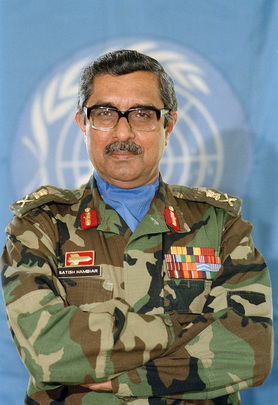 Official UN portrait of Lieutenant-General Satish Nambiar of India, first Commander-in-Chief of UNPROFOR, in Zagreb, 1992. Credit: UN