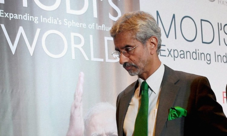 Foreign Secretary S. Jaishankar at the book launch of C. Raja Mohan's Modi's World. Credit: PTI