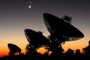 Radio telescopes. Credit: SETI