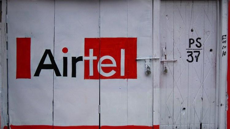 Airtel advertisement on shop door, Himachal Pradesh. Credit: Arti Sandhu/Flickr/CC 2.0