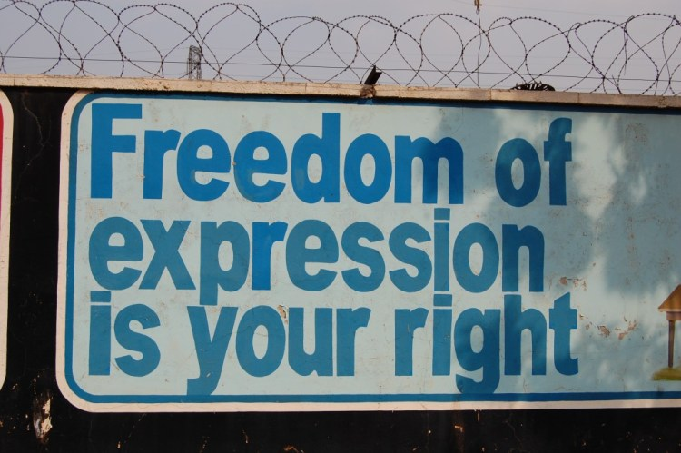 Freedom of expression is your right. Credit: rhinman/Flickr, CC BY 2.0.
