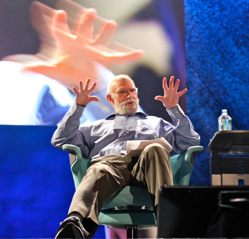 Oliver Sacks, seen here at a TED talk in 2009. Credit: Steve Jurveston/Flickr, CC 2.0