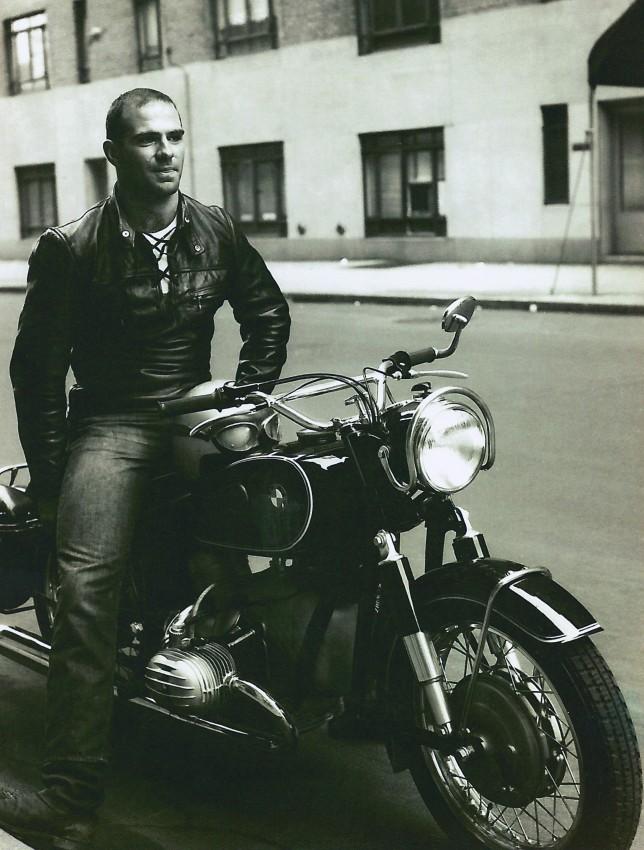 Oliver Sacks on a BMW motorcycle, 1961. Credit: OliverSacks.com
