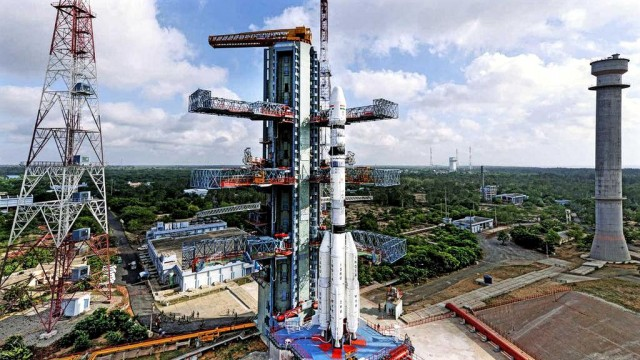 PSLV C30 on the launchpad at Sriharikota. Source: ISRO