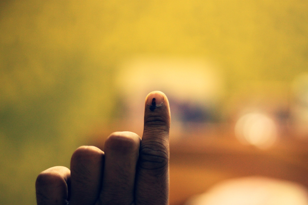 Voting in India. Credit: mhatrey/Flickr, CC BY 2.0