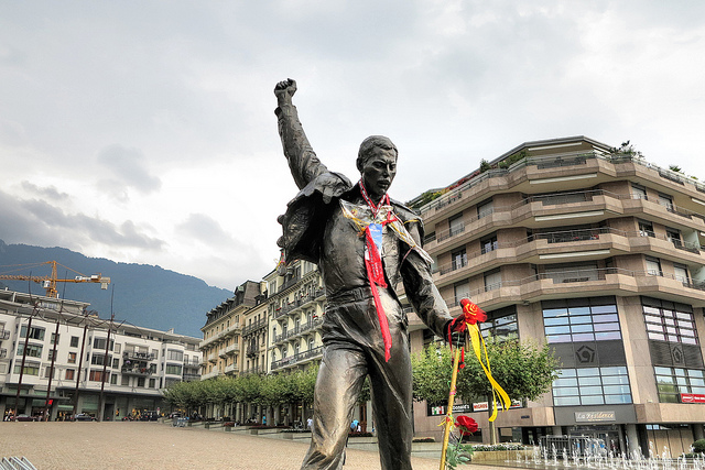 A statue of Freddie Mercury in Montreux (Photo: Russ2009)