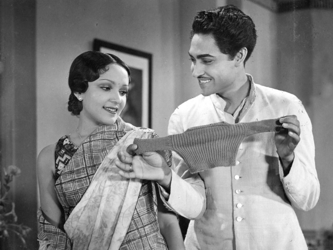 "Devika Rani and Ashok Kumar in a scene from ""Nirmala"" (1938). Photo: courtesy Wirsching Archive"