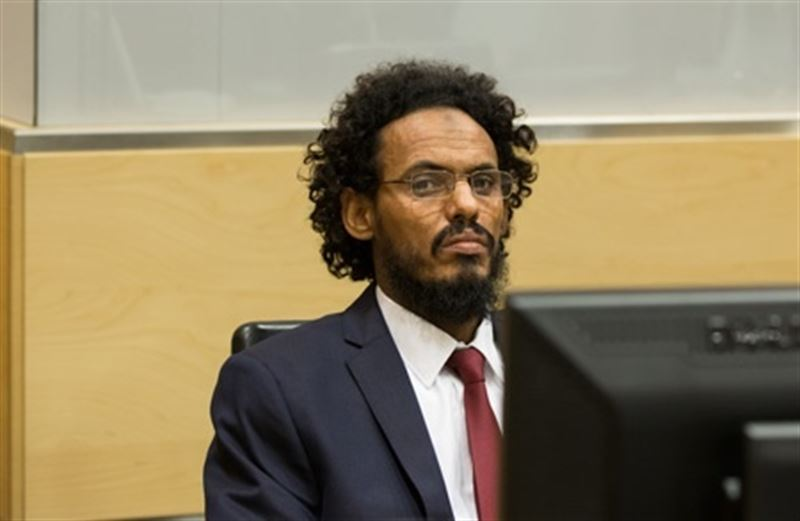 Ahmad Al Faqi Al Mahdi at his first appearance hearing on 30 September 2015 at the International Criminal Court in The Hague ©ICC-CPI