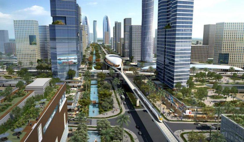 An image of the new Andhra Pradesh capital, Amaravati