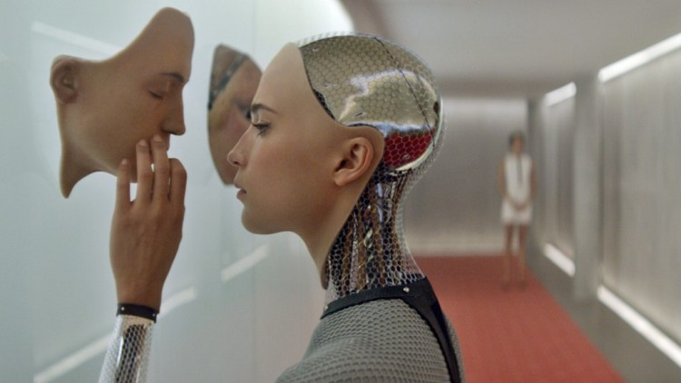A publicity still from the film Ex Machina