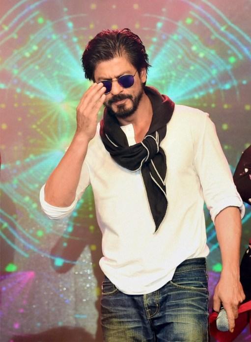 Bollywood actor Shah Rukh Khan during his birthday celebrations at a hotel in Mumbai on Monday. Credit: PTI Photo by Mitesh Bhuvad