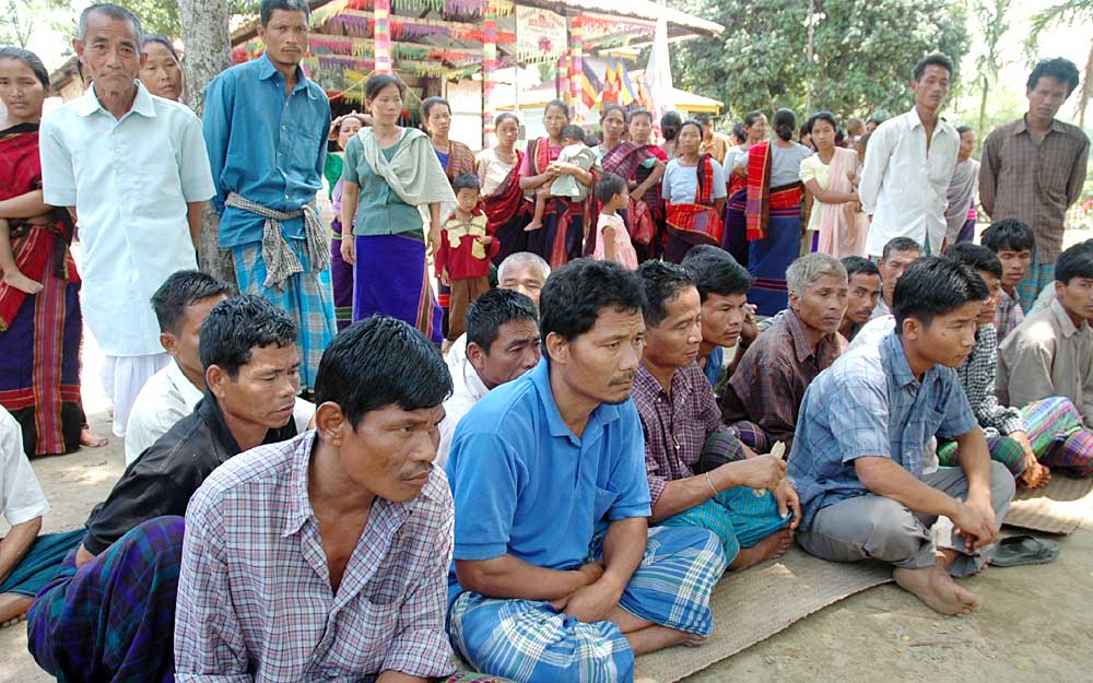Chakma refugees attending a Buddha puja in Arunachal. Credit: Special Arrangement