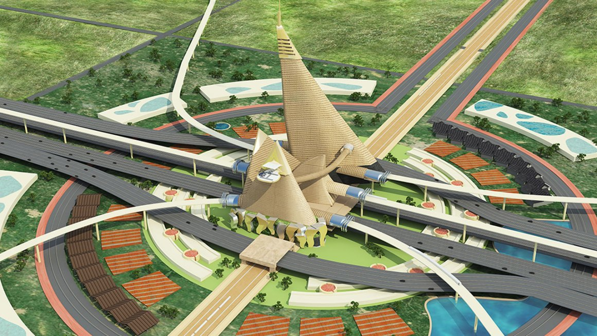 A futuristic vision of what the vilalges of Dholera will look like. Credit : Dholera-smart-city.com