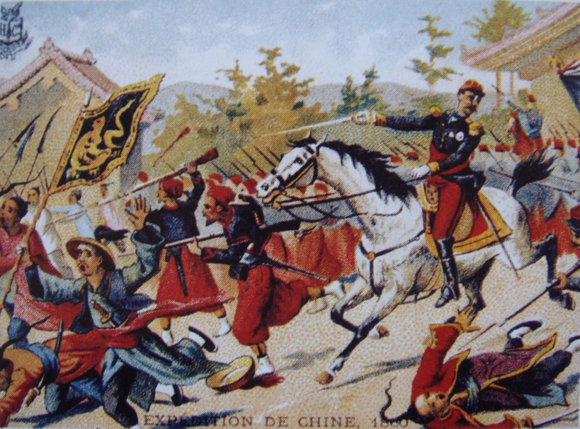 A charge by French forces during the 1860 campaign, of the second Opium War. Credit: Wikimedia Commons