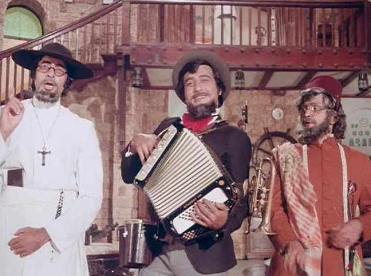 A still from that most masala of films, Amar Akbar Anthony