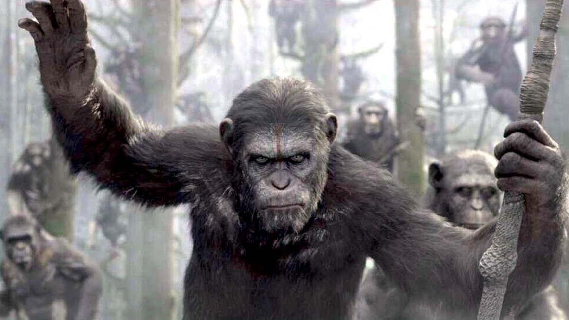 Will it be the dawn of a planet of the apes? Source: YouTube screengrab