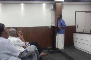 Benyamin speaks. Credit: Nandita Jayaraj