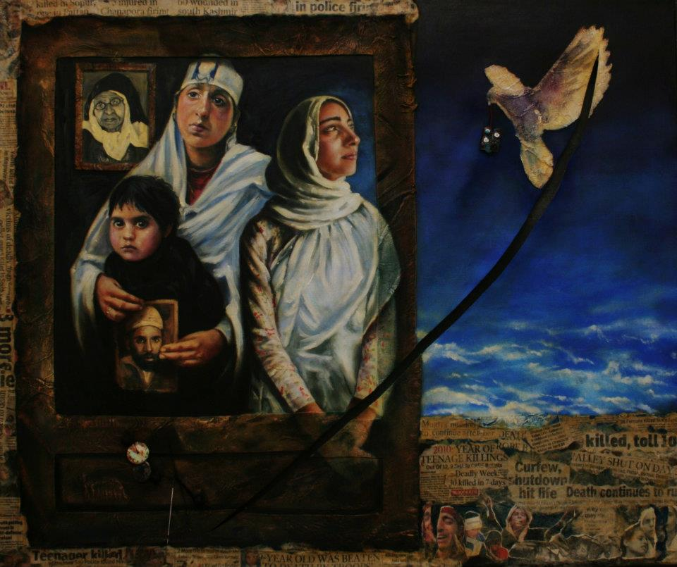 'Look behind the canvas', 2010. Credit: Masood Hussain