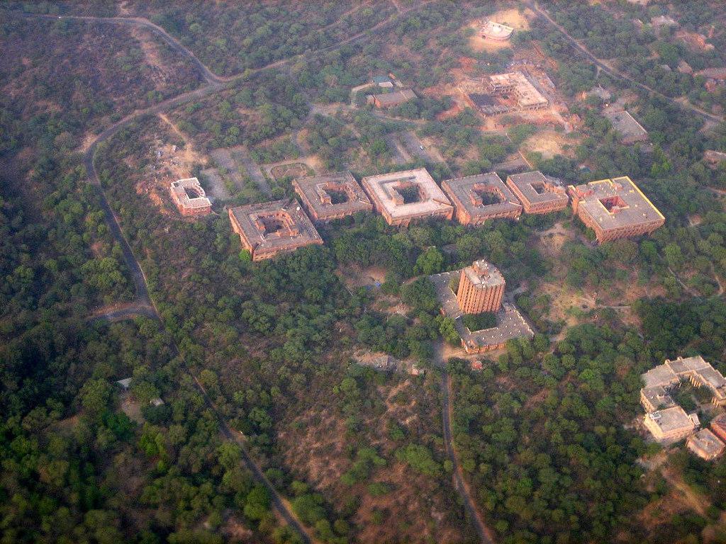 An aerial view of Jawaharlal Nehru University, New Delhi. Credit: seaview99/Flickr, CC BY-NC-SA 2.0