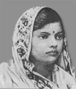 Subhadra Kumari Chauhan (1904 – 1948), Hindi poet, born Allahabad. Credit: Wikipedia.