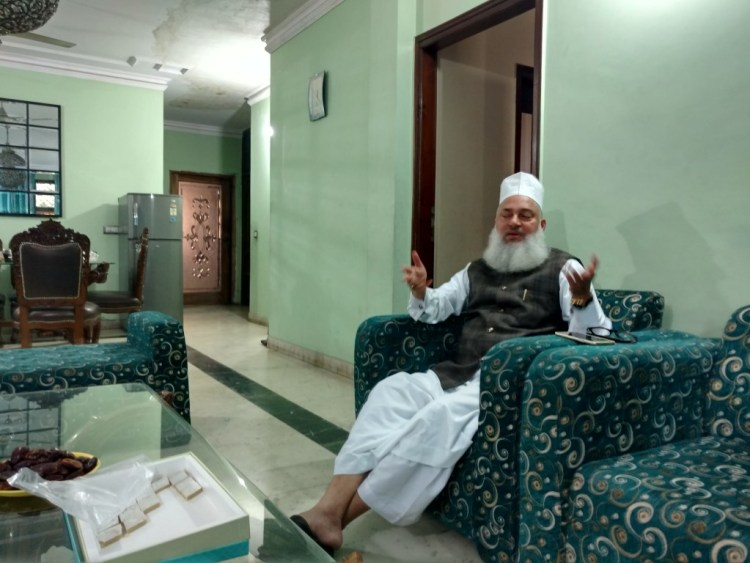 Syed Mohammad Ashraf Kicchowchhawi, the national president of All India Ulama and Mashaikh Board, which is organising the World Sufi Forum. Credit: Devirupa Mitra