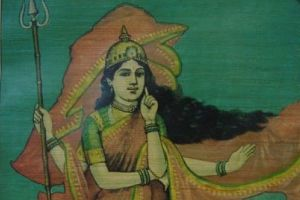 An early depiction of Bharat Mata. Credit: Wikimedia Commons